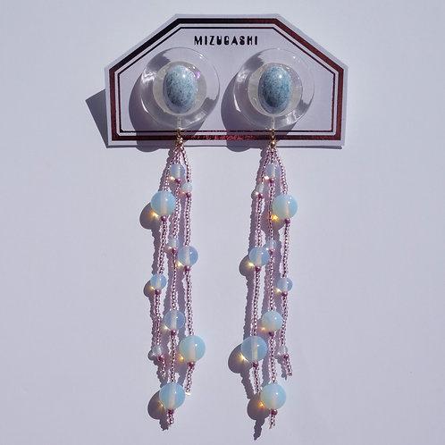EARRINGS BLUE × PURPLE × OPAL
