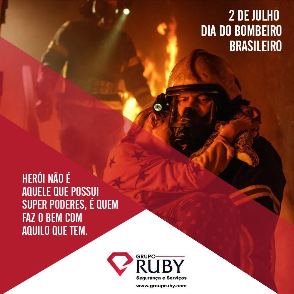 Dia do Bombeiro brasileiro em encantus propaganda