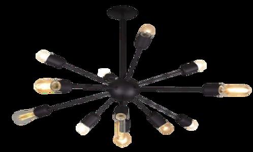 Luminária - 133 - Preto