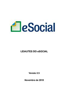 Leiautes do eSocial v2.5_Novembro de 201
