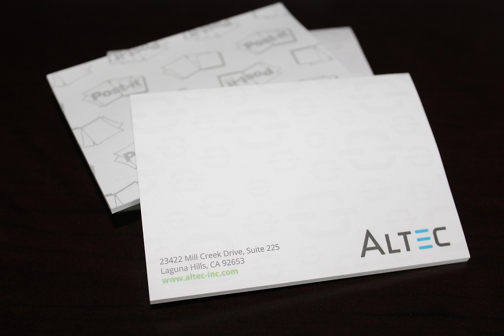 Customized 3M Post-it Notes by Altec