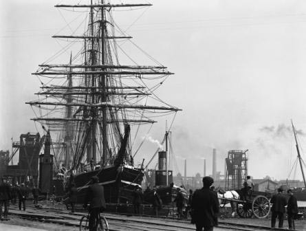 Terra Nova in Bute Dock Cardiff