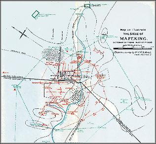 Mafeking Siege map.