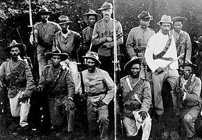 Boer War Blck Watch auxiliaries at Mafeking