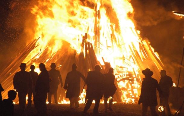 Guy Fawkes bonfire