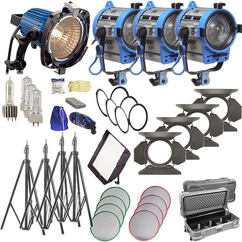 4 Light Arri Kit | (1) 750 (3) 650s
