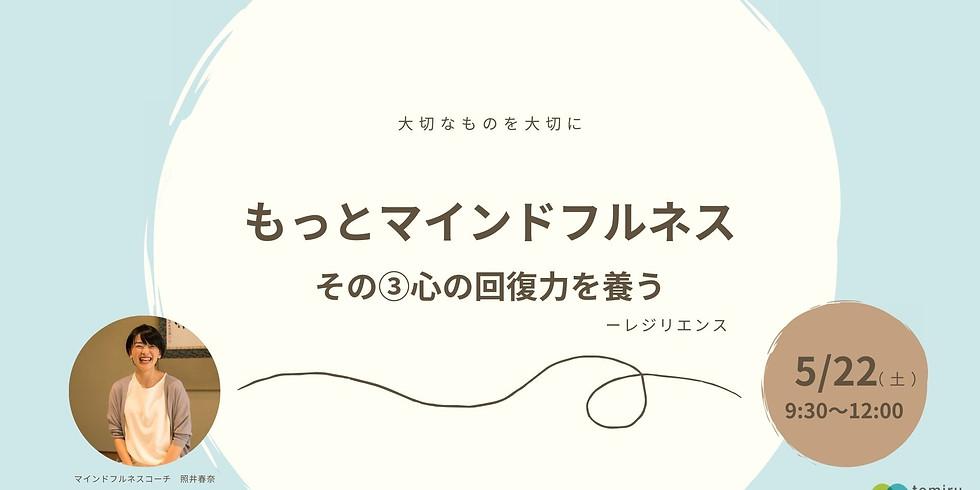 【大切なものを大切に】もっとマインドフルネス③心の回復力を養う5/22(土)
