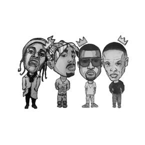 A$AP ROCKY, TUPAC, KANYE, DR. DRE.