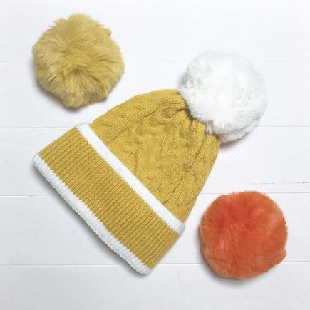GASTON, bonnet moutarde torsadé
