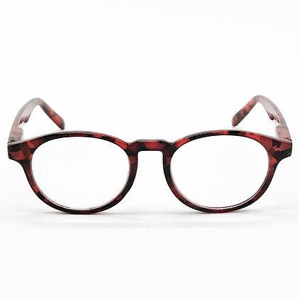 Lunettes lecture écaille/camouflage rouge + 3,00
