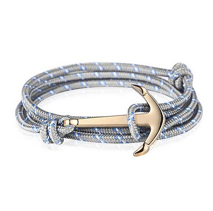 Bracelet Ancre gris Accessoire Studio accessoires