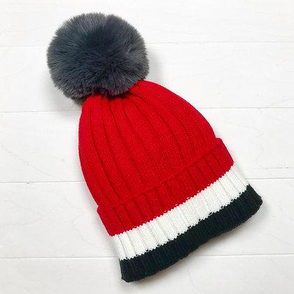DEDE, bonnet tricolore rouge