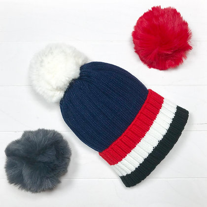 BERNARD, bonnet tricolore marine