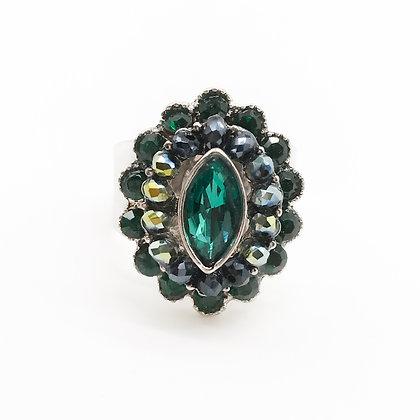 Bague pierres vertes Accessoire studio De jolis accessoires mode