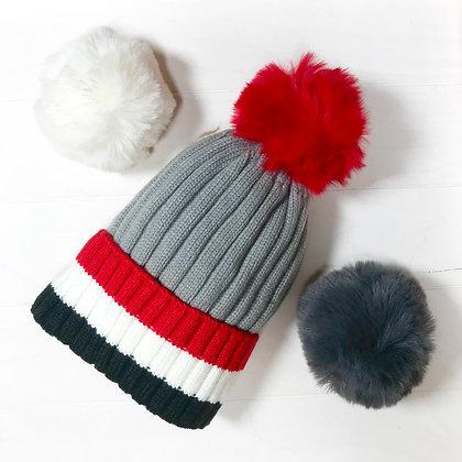 JOJO, bonnet tricolore rouge