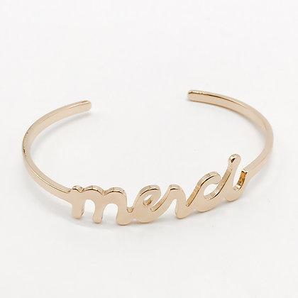 Bracelet jonc Merci Accessoire Studio accessoires