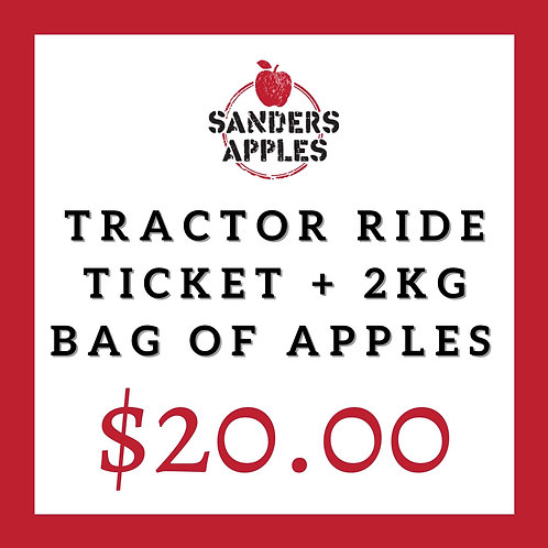 Tractor Ride Ticket + 2kg Bag of Apples