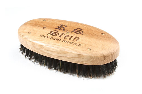 R.S. Stein 109 Oak Wood | Military Oval Hairbrush with Firm Natural Bristles