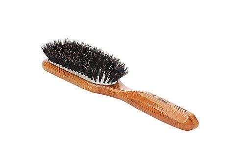 Bass 897 Dark Bamboo | Medium Paddle Hairbrush with Firm Natural Bristles