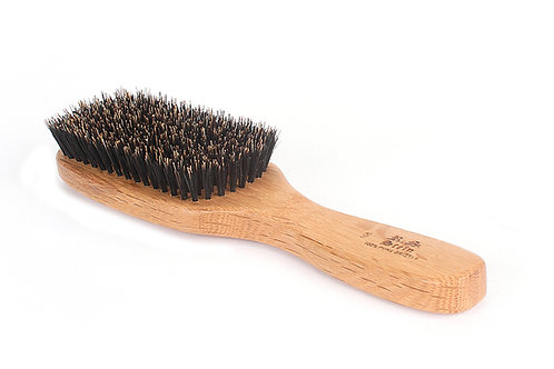 R.S. Stein 105 Oak Wood | 9 Row Wave Hairbrush with Firm Natural Bristles