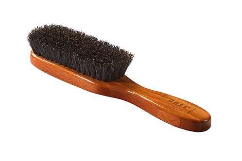 Bass 876SB Dark Bamboo | Semi Oval Hairbrush with Soft Natural Bristles