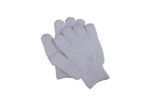 Bass S58 Snowy White     Premium Nylon Body Exfoliating Gloves