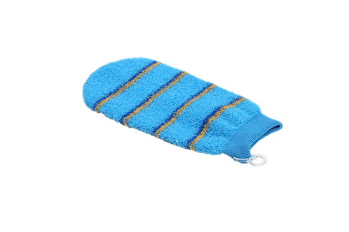 Bass 1142 Baby Blue  |  Premium Nylon Body Exfoliating Mitt