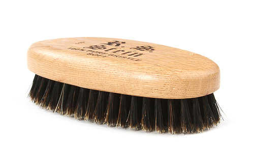 R.S. Stein 110 Oak Wood | Military Oval Hairbrush with Soft Natural Bristles