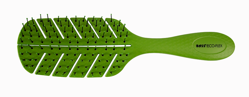The BIO-FLEX Detangler | Leaf Shape Style Hairbrush with Plant Based Handle