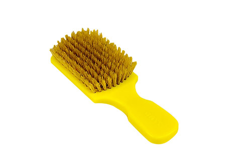 The Wave Brush 153FS Bright Yellow  |  Club Style with Soft Natural Bristles