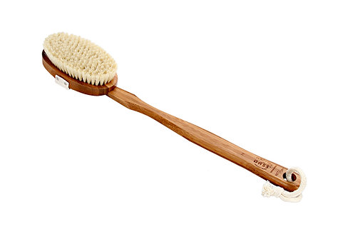 Bass 76 Dark Bamboo  |  Oval Style Body Brush with Natural Bristles