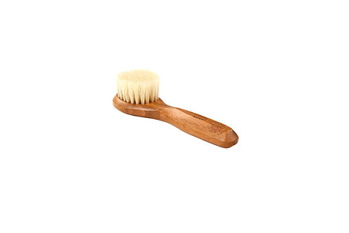 Bass 406 Dark Bamboo     Facial Brush with Firm Natural Bristles