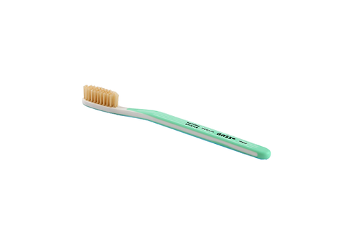 Bass TB3 Gorgeous Green | Toothbrush with Acrylic Handle and Natural Bristles