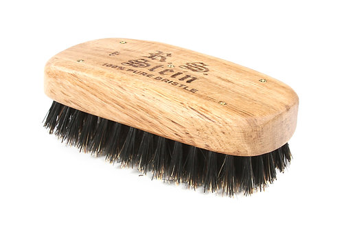 R.S. Stein 107 Oak Wood | Military Rectangle Hairbrush with Firm Natural Bristle