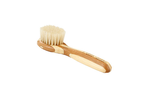 Bass 406 Striped Bamboo  |  Facial Brush with Firm Natural Bristles