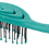 Thumbnail: ECF3 BIO-FLEX Swirl Teal| Swirl Shape Hairbrush with Plant Based Handle