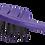 Thumbnail: ECF1 BIO-FLEX Detangler Lavender| Leaf Shape Hairbrush with Plant Based Handle