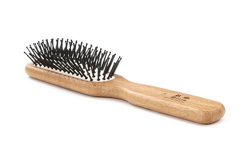 R.S. Stein 104 Oak Wood | 6 Row Hairbrush with Premium Nylon Pins