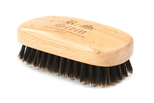 R.S. Stein 108 Oak Wood | Military Rectangle Hairbrush with Soft Natural Bristle