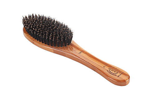 Bass A14 Dark Bamboo  |  Full Oval Style Brush with Natural Bristles