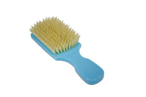 The Wave Brush 153FS Baby Blue  |  Club Style with Soft Natural Bristles