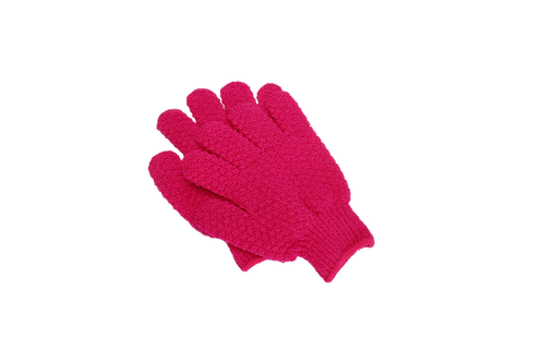 Bass S58 Fuschia  |  Premium Nylon Body Exfoliating Gloves