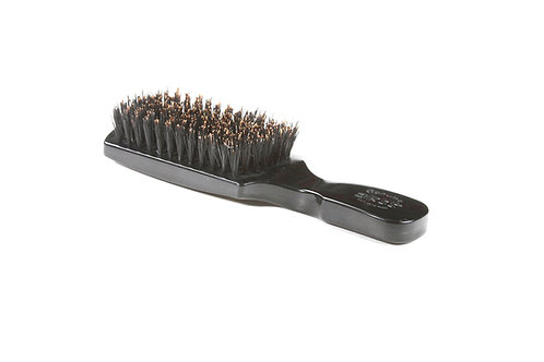 The Wave Brush 153F Jet Black  |  Club Style with Firm Natural Bristles