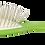 Thumbnail: ECF11 BIO-FLEX Alloy Green| Oval Leaf Shape Hairbrush with Plant Base Handle