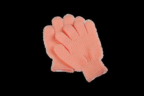Bass S58 Peach  |  Premium Nylon Body Exfoliating Gloves