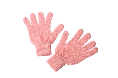 Bass S58F Pretty Pink  |  Premium Firm Nylon Body Exfoliating Gloves
