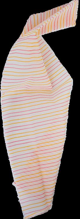 Bass BC1F Orange & Red Candy Cane  |  Premium Nylon Exfoliating Body Cloth FIRM