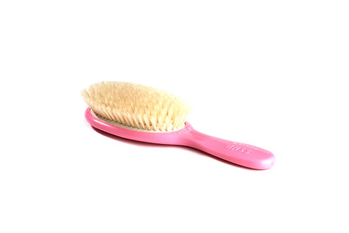 Bass BB2P Baby Pink  |  Extra Small Oval Style Hairbrush with Natural Bristles
