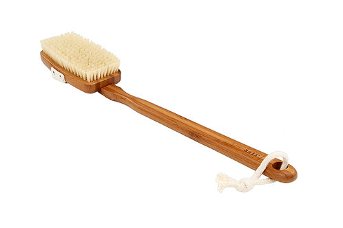 Bass 81D Dark Bamboo     Square Style Body Brush with Naural Bristles
