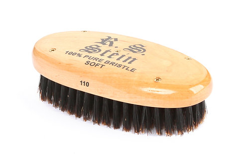 R.S. Stein 110 Maple Wood | Military Oval Hairbrush with Soft Natural Bristles